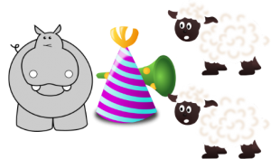 hippo birthday 2 ewes